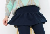 秋冬穿衣打扮也要穿保暖显瘦的打底裤 打底裤搭配长款毛衣