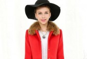 毛呢大衣外套羽绒服 红色带来热情的冬天