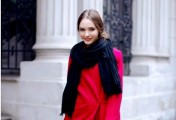 美女子的围巾服饰搭配 来看围巾服饰搭配时尚街拍