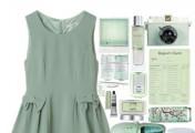 欧美整套服饰搭配示例图片_绿色衣服怎么搭配