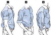 长袖衬衫比较合适得体地卷袖子方法