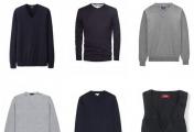 必备的男装单品有哪些?(三)中性色V领套头衫 海军蓝休闲西装外套