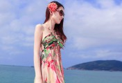 感受大海的气息,长裙搭配