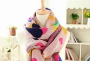 寒冷冬季的围巾搭配