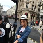 2016年伦敦 袁姗姗街拍花絮