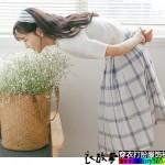 百褶裙在春风中更加的撩人