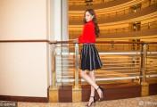 唐嫣就是有办法把艳红的上衣穿成清新俏皮的少女味