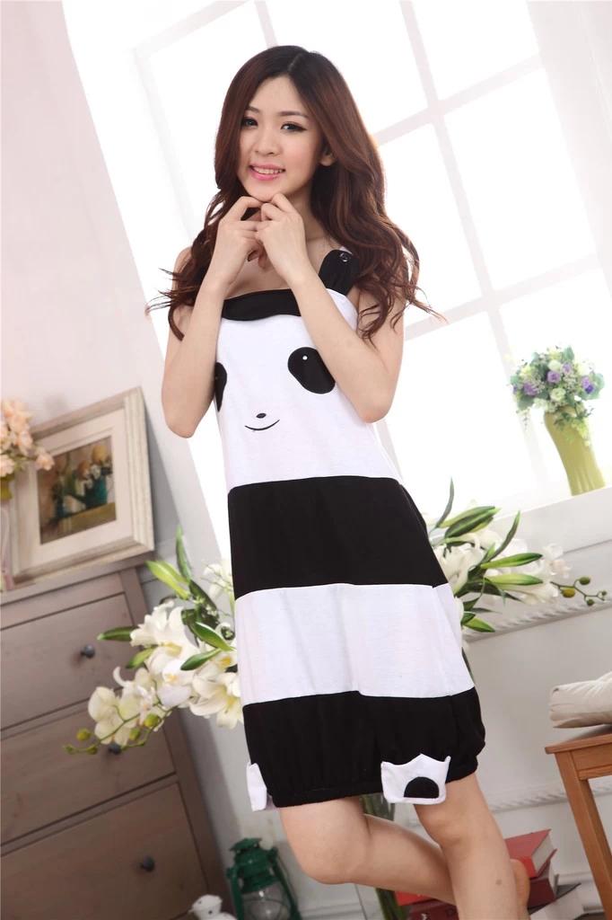 可爱熊猫学生睡裙