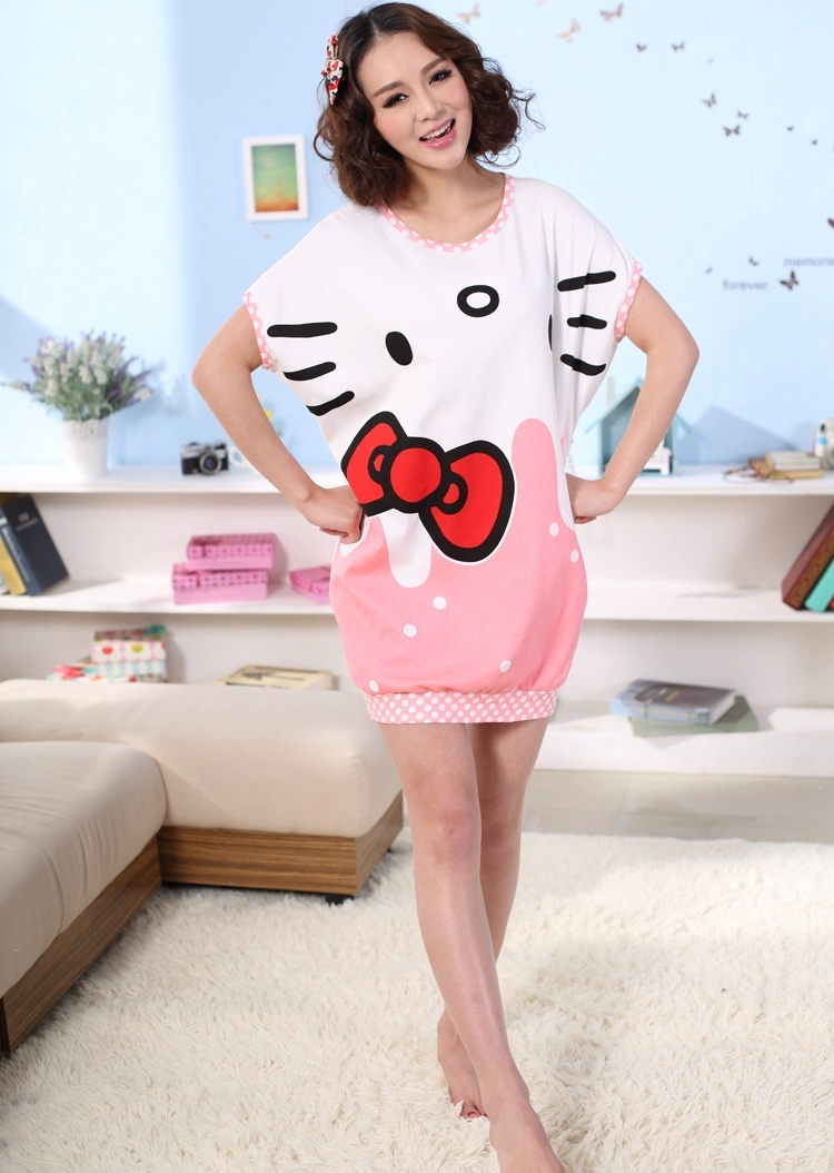 kitty睡衣纯棉睡裙