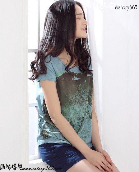 森系印花T恤