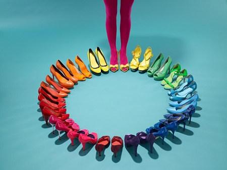 服饰搭配24高跟鞋色相环