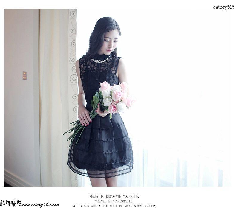 欧根纱蓬蓬连衣裙