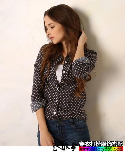 法兰绒星星长袖衬衫