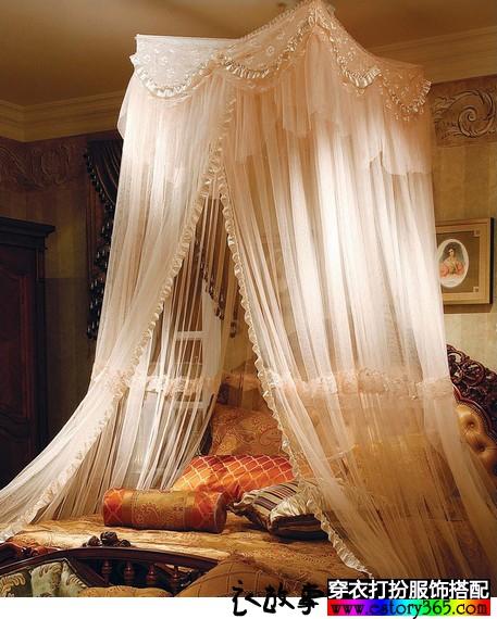 宫廷蕾丝吊顶蚊帐