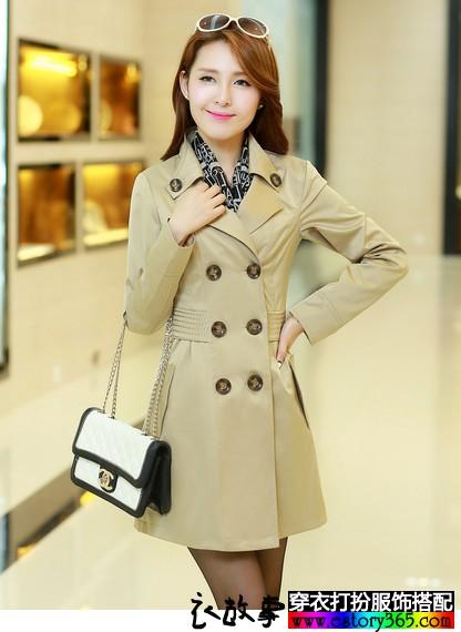 韩式中长款风衣
