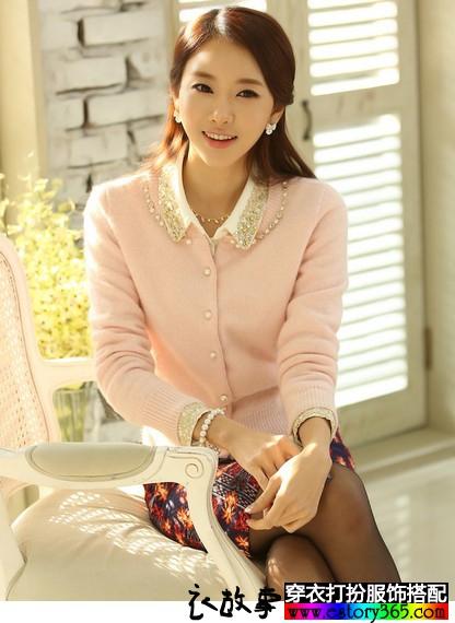 纯色羊毛针织开衫