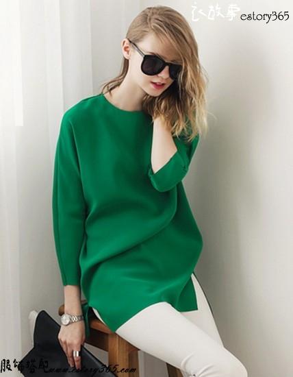 七分袖纯色衬衫