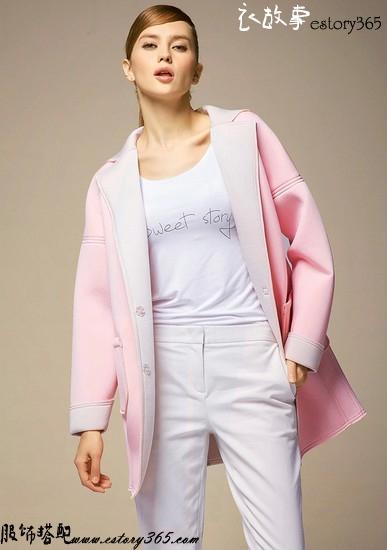 太空棉纯色宽松风衣外套