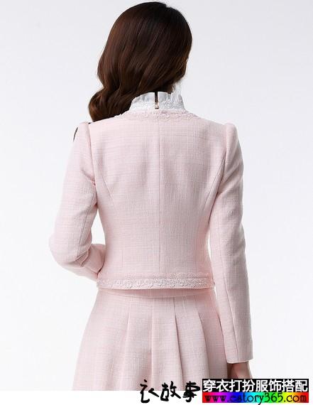 小香风圆领短外套