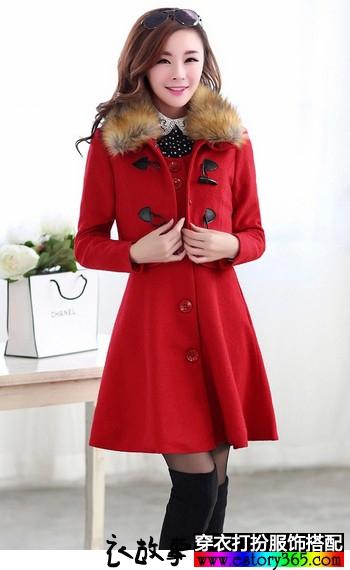 小香风冬季中长款毛呢大衣