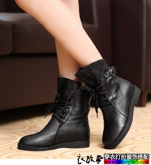 内增高系带短靴
