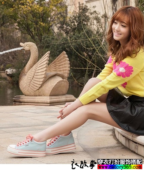 纯色厚底帆布鞋