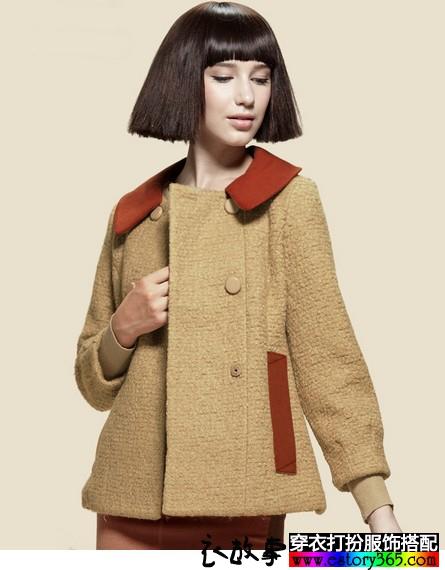 小香风娃娃领毛呢大衣