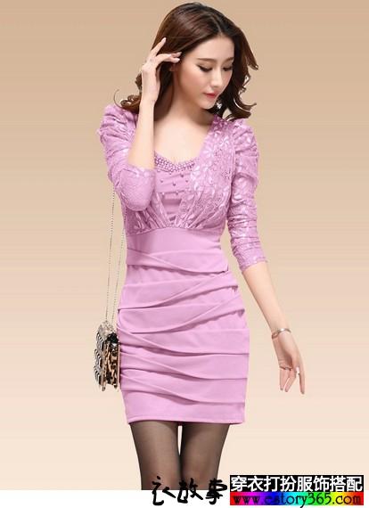 韩版性感蕾丝包臀裙