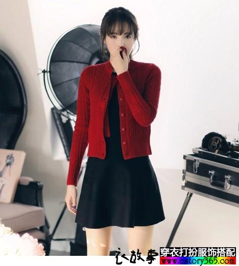 韩版复古麻花毛衣外套