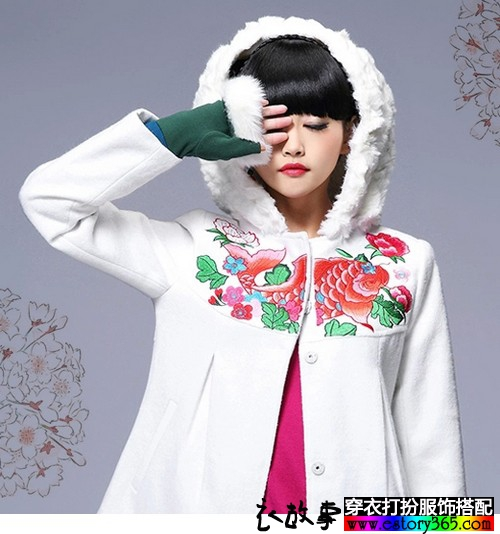 2014红白格调搭配寒冬