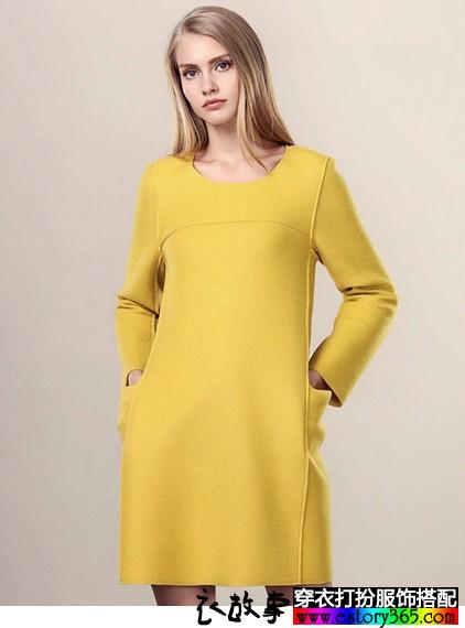 秋冬里有范的长袖连衣裙