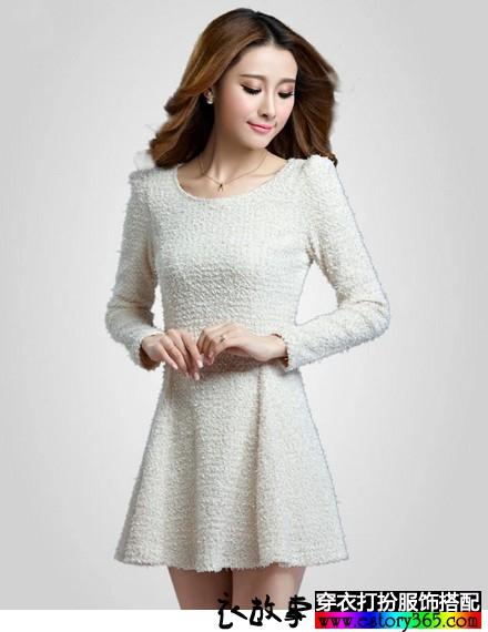 选对打底长袖连衣裙,漂漂亮亮过寒冬