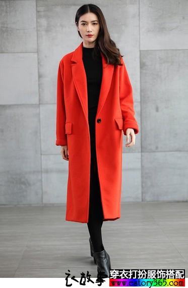 廓形高端休闲羊绒大衣