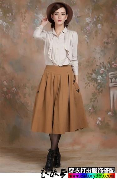 秋冬大摆棉质中长裙