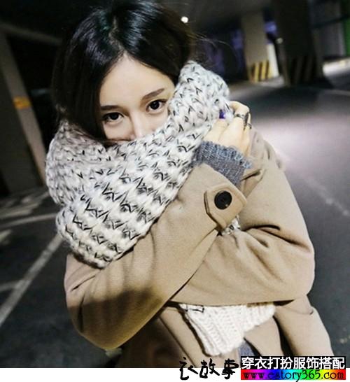 加厚毛线围巾