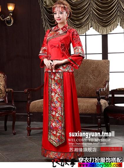 中式龙凤褂嫁衣
