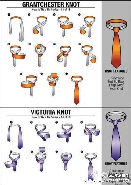 男士领带多种系法图解之四