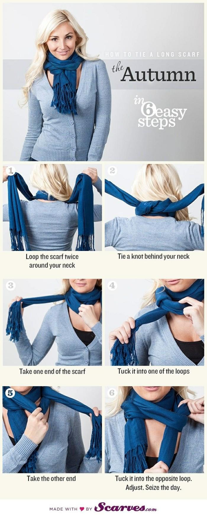 欧美风格围巾系法大全