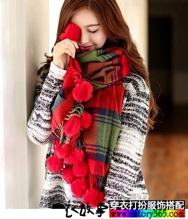 冬日搭配:围巾风采