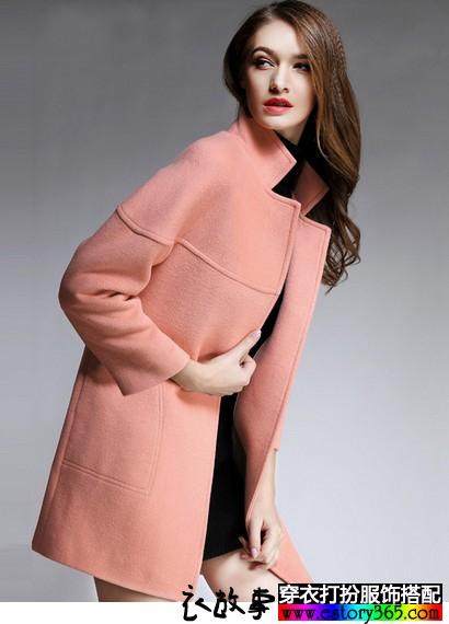 欧美茧型加厚廓形大衣