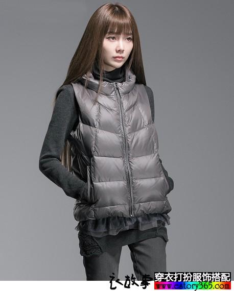 羽绒马甲外套