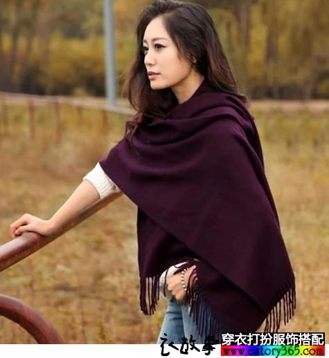 纯羊毛两用围巾大披肩
