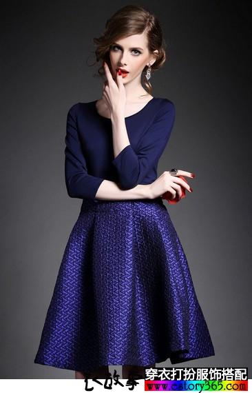 优雅中长裙,轻熟复古范