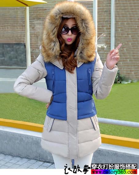中长款连帽加厚保暖外套