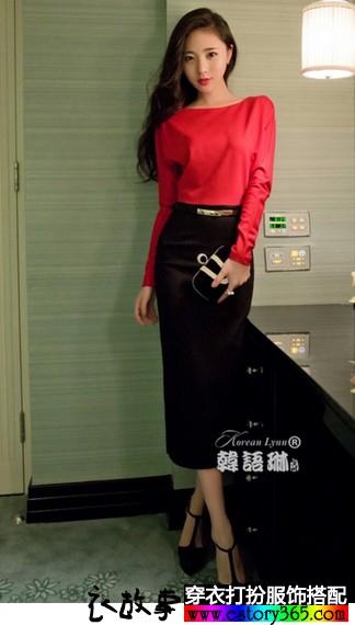 针织包臀连衣裙