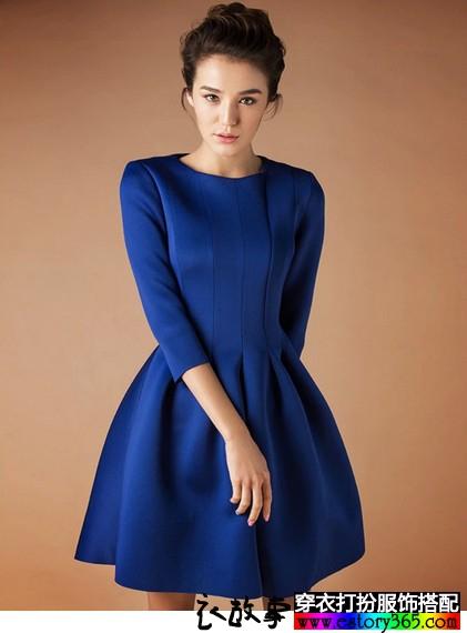 太空棉气质长袖连衣裙