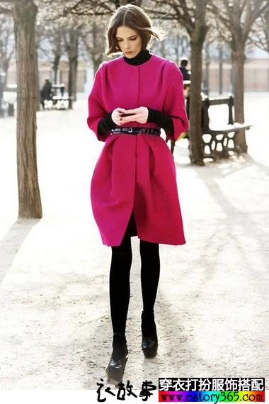 优雅显瘦羊绒大衣