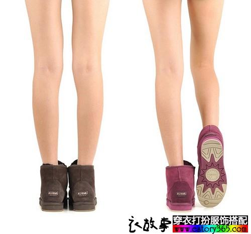 澳洲羊毛一体防滑雪地靴
