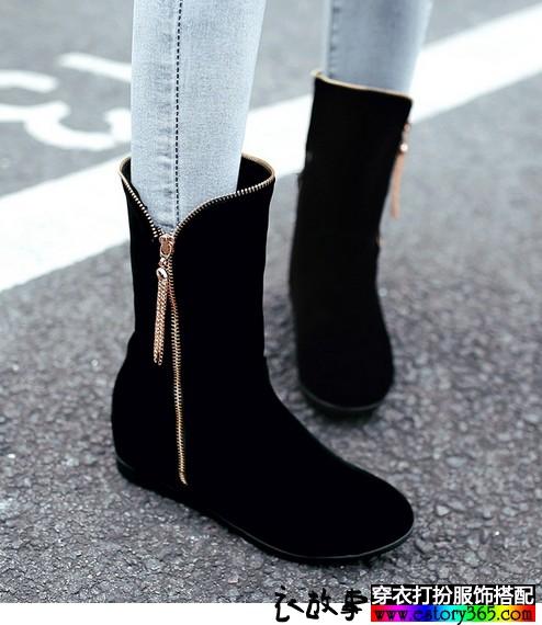 流苏平底休闲靴