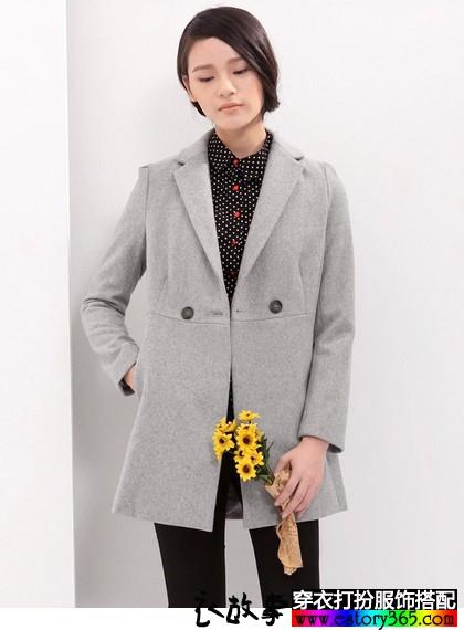 西装领羊毛呢外套